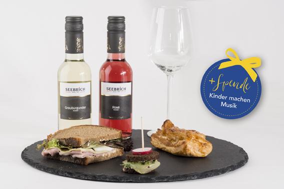 Seebrich Wein, Glas und Speisen